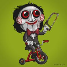 Billy the Puppet - Saw - Terror Toddlers by thecalgee on DeviantArt Horror Cartoon, Horror Icons, Horror Movie Characters, Horror Movies, Arte Horror, Horror Art, Billy The Puppet, Halloween Horror, Scary Movies