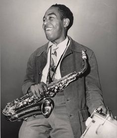 "Charlie Parker    ""And I sat there listening to that sound of the night which bop has come to represent for all of us."""