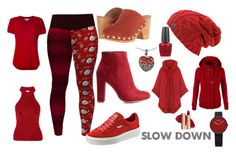 """Take it Slow"" by kelly-floramoon-legg ❤ liked on Polyvore featuring Yves Saint Laurent, MICHAEL Michael Kors, Puma, Wild Diva, Free People, WearAll, LE3NO, Lord & Taylor and OPI"