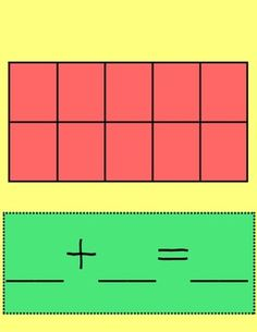 Ten Frame Addition Activity is used in Kindergarten to help students in building and breaking apart numbers.