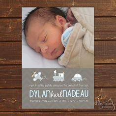 Plane Train & Automobile Baby Boy Photo Birth by BluePearPapers, $15.00