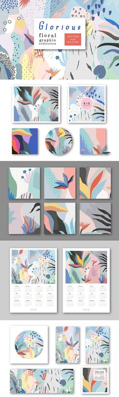 Beautiful Patterns, Multicolor, Pastel, Nature, Shapes