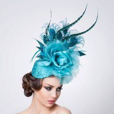 Jade Fascinator Hat  available at #Brighton