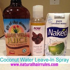 DIY Coconut Water Moisturizing Leave-In Spray