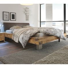 Hasena Bloc Quada Ripo – Real leather and Character Solid Oak *Vintage Finish* Bed - All About Decoration Cama Industrial, Industrial Style Bedroom, Industrial Bedroom Furniture, Contemporary Bedroom Furniture, Vintage Industrial Furniture, Country Bedroom Design, Bedroom Bed Design, Bedroom Designs, Bedroom Decor