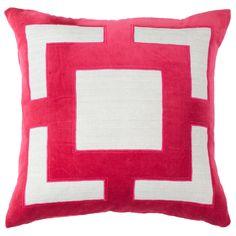 Panel Pink Lounge Throw Pillow @Zinc_Door