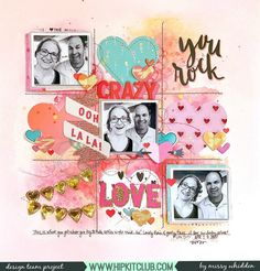 Hip Kit Club DT Project - 2018 January Hip Kits; Crate Paper Main Squeeze; Hip Kit exclusives; Vicki Boutin All the Good Things Watercolor Stickers; Ranger Distress Oxides (added some Shimmerz Paints from previous kits)