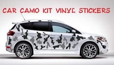 FULL CAR CAMO KIT  STICKERS CAMOUFLAGE ANY 2 COLOURS  VINYL WRAP DECALS Car Decals, Vinyl Decals, Car Bonnet, Air Vent Covers, Vinyl For Cars, Chrome Cars, Fender Flares, 2 Colours, Camouflage