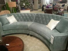 Curved and fabulous. The Riemann Curved Tufted Sectional is an updated twist on the classic. HomeDecorators.com | Living Room | Pinterest | Curves ... : curved tufted sectional - Sectionals, Sofas & Couches