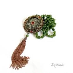 unikalny,długi,ceramika,lato,naszyjnik - Naszyjniki - Biżuteria