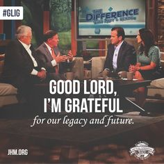 Good Lord, I'm grateful for our legacy and future—it's a wonderful thing to have a godly heritage, but it's also a great promise to know that God has a plan for your family's future. Tell me below, what are you grateful for this week?  #GLIG #Legacy #Future #Heritage #Family #Promise