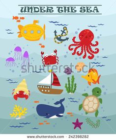 under the sea (stock vector by comodo777 at shutterstock.com)