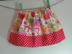 Girls Skirt Twirl Skirt Apples red green orange pink Red Polka Dot Skirt Ready to Ship! by SouthernSeamsKids on Etsy https://www.etsy.com/listing/240109617/girls-skirt-twirl-skirt-apples-red-green