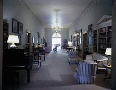 White House Rooms: Ground Floor Hall, Entrance Hall, Second Floor Center Hall, Treaty Room, First Lady's Sitting Room, Yellow Oval Room, Third Floor Center Hall, Blue Toile Bedroom, Country Bedroom - John F. Kennedy Presidential Library & Museum
