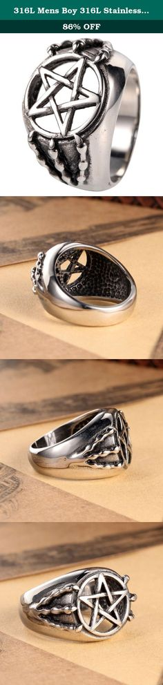 316L Mens Boy 316L Stainless Steel Star Claw Biker Ring Sz 7-13. Why choose Stainless Steel Jewelry? Stainless Steel jewelry does not tarnish and oxidize, which can last longer than other jewelries. It is able to endure a lot of wear and tear. And it is amazingly hypoallergenic. Such advantages make it a more popular accessory. Shopping Notes: 1. Currently all of our items are sent from China, which usually 7-15 business days. Tracking number is provided with, please check the parcel…