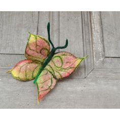 Colorful butterfly, felted brooch, felt wool jewelry. Perfect gift. (114 PLN) ❤ liked on Polyvore featuring jewelry and brooches