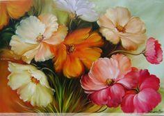 pinturas al oleo de flores margaritas - Buscar con Google