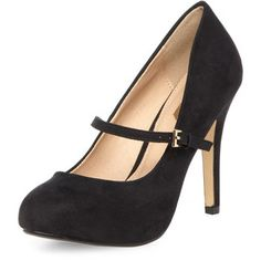 Dorothy Perkins Black mary-jane comfort court Shoes