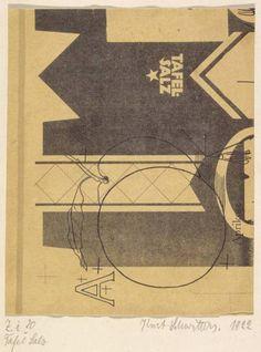 dada: Kurt Schwitters, Tafel Salz (1922)