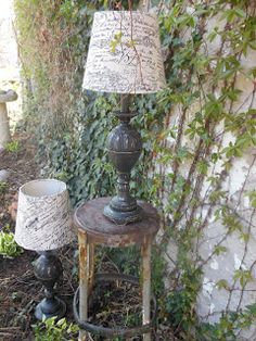 Lamps Refinished in Annie Sloan Graphite