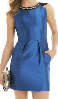 Pretty blue cocktail dress