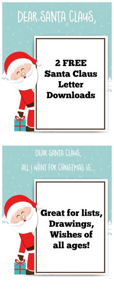 [ Santa Claus List Template Letter Free Printable For Kids Momdot ] - Best Free Home Design Idea & Inspiration Letter Template For Kids, Letter Templates, Holiday Crafts For Kids, Diy For Kids, Printable Activities For Kids, Free Printables, Santa Letter, Love Is Free, Drawing For Kids