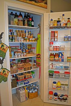 THE most organized pantry I've ever seen ~ Love her ideas for tiers using 2x4s ~ By Cas at An Oasis in the Desert