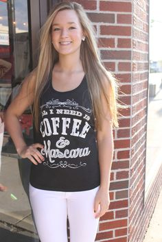 Coffee and Mascara Tank $18