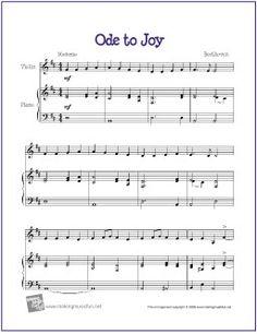 Ode to Joy Free sheet Music for Violin - http://makingmusicfun.net/htm/f_printit_free_printable_sheet_music/ode_to_joy_violin.htm