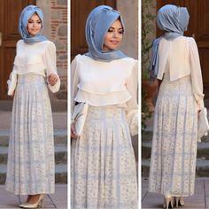 إسلام — Annahar Blue Shirt and Skirt Skirt. Islamic Fashion, Muslim Fashion, Modest Fashion, Abaya Fashion, Skirt Fashion, Fashion Dresses, Hijab Casual, Hijab Elegante, Estilo Abaya