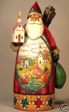 Jim Shore Christmas in the Bag Santa Figurine Z | Christmas Santa ...