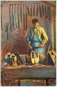 Het maken van klompen - 1900
