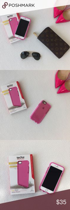 NEW Pink iPhone 6 Case Pink evo mesh Tech 21 case. New with box. Protect your iPhone 6 with this cute case! It absorbs shock and isn't bulky! 🙅🏻No Trades🙅🏻Offers welcome!👍 Tech21 Accessories Phone Cases