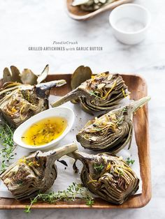 perfect time for dipping: Grilled Artichokes with Garlic Butter | foodiecrush.com
