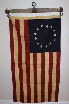 Patriotic Vintage Horse Yoke with 13 Colony American Flag