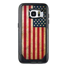 Vintage American Flag Samsung Galaxy S7 Edge Case