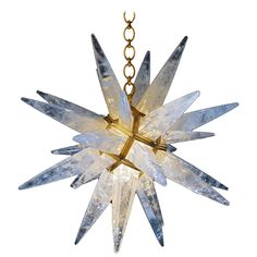 Rock Crystal Star Chandelier by Alexandre Vossion   1stdibs.com