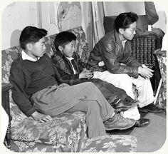 Tojo Miyatake Family, Manzanar Relocation Center. Photograph by Ansel Adams in 1943.