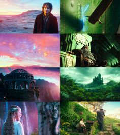 The Hobbit, red and green screencaps