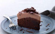 Chokoladekage med mælkechokolade -creme