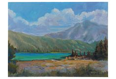"High Sierras Lake by Zoltan on OKL ($175 v. $250 est'd market value) Era: Contemporary; 2000s Condition: Excellent Country of Origin:     USA Materials:     oil on board Size:     14"" L x 0.25"" W x 11"" H Color/Finish:     blue/multi As described by Stewart Fine Art: ""Summer landscape in the High Sierras by contemporary CA artist Charles Zoltan. Signed lower right, dated 2009, and titled verso. Unframed."""