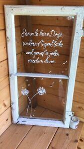 Deko, Garten, shabby chic, Muttertag, alte Fenster in Bayern - Kastl b Kemnath Camas Shabby Chic, Estilo Shabby Chic, Diy Projects For Beginners, Old Windows, Decorating Blogs, Garden Planning, Home Decor Accessories, Decoration, Design Elements