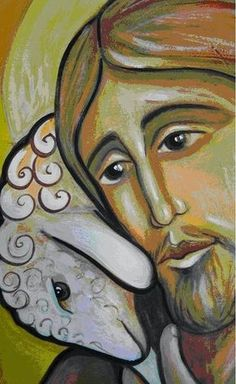 The Lord is My Shepherd -Psalm 23 Religious Icons, Religious Art, Religious Images, Lord Is My Shepherd, The Good Shepherd, Image Jesus, Good Shepard, Jesus Art, Prophetic Art