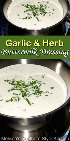 Salad Dressing Recipes, Salad Dressings, Yummy Eats, Yummy Food, Cheese Recipes, Cooking Recipes, Melissas Southern Style Kitchen, Buttermilk Dressing, Delicious Appetizers