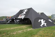 Double star tent with print, Extreme Run http://www.kingiagentuur.ee/en/star-tents/