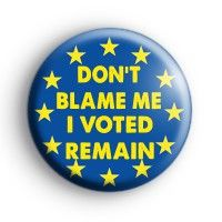 25mm Button Badge Leave Europe In Out Referendum Vote EU European Union No