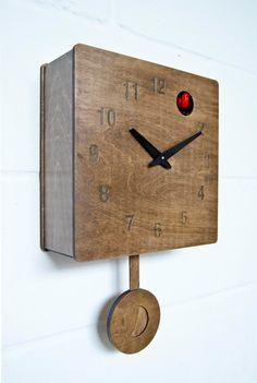 Quercus Numerical Modern Cuckoo Clock in Walnut by pedromealha