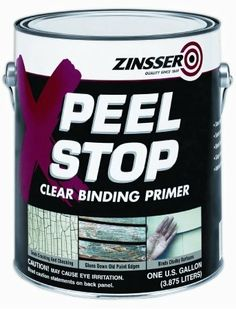 Clear binding primer Binds cracking, chalking and peeling paint Reduces extensive paint removal prior to recoat Solves age-old peeling probl...