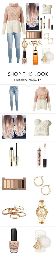 """""""Comfy, cozy, leaves falling slowly!🍂"""" by luna1116 ❤ liked on Polyvore featuring Levi's, Miss Selfridge, Hollister Co., L'Oréal Paris, Charlotte Russe, Urban Decay, Nordstrom, Kendra Scott, Michael Kors and OPI"""