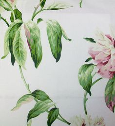 Peony Garden Chintz fabric for a wall